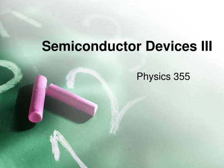 semiconductor devices iii n.