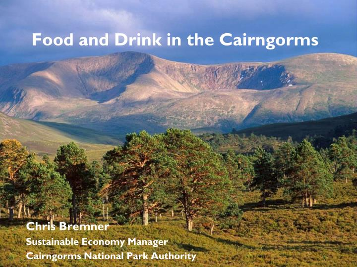food and drink in the cairngorms n.