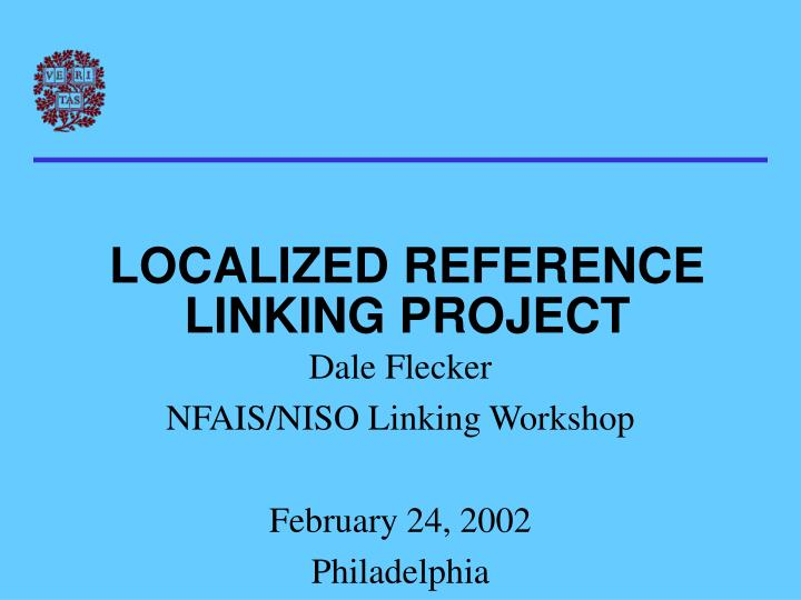 localized reference linking project n.