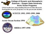 College of Oceanic and Atmospheric Sciences – Oregon State University Arctic Ocean Programs