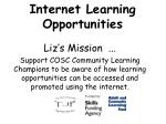 Internet Learning Opportunities