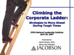 Climbing the Corporate Ladder: