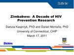Zimbabwe: A Decade of HIV Prevention Research