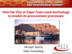 How the City of Cape Town used technology to enable its procurement processes