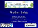 Fire/Burn Safety