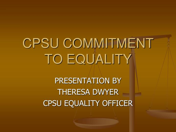 cpsu commitment to equality n.