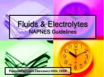 Fluids & Electrolytes NAPNES Guidelines
