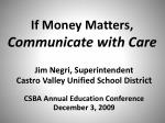 If Money Matters,  Communicate with Care