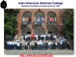 Inter-American Defense College Building Confidence & Security Since 1962