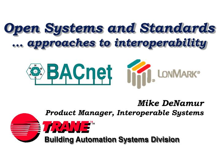 open systems and standards approaches to interoperability n.