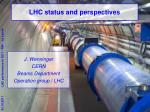 LHC status and perspectives