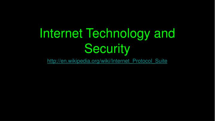internet technology and security n.