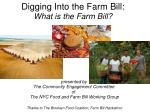Digging Into the Farm Bill: What is the Farm Bill?