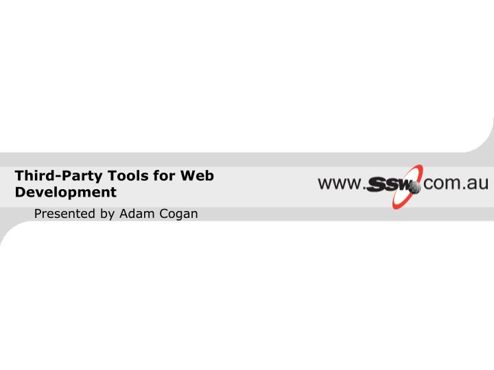 third party tools for web development n.