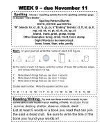 """Spelling : Choose 1 spelling activity from the spelling activities page in student """"Hero Binder"""""""