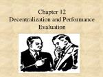 Chapter 12 Decentralization and Performance Evaluation