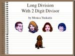 Long Division With 2 Digit Divisor