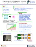 Low Complexity, High throughput wireless architecture