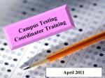 Campus Testing Coordinator Training