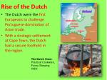 Rise of the Dutch