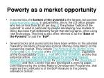 Powerty as a market opportunity