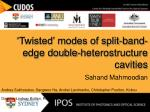 'Twisted' modes of split-band-edge double-heterostructure cavities Sahand Mahmoodian