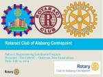Rotaract Club of Alabang Centrepoint Subject: Negosyanteng Estudyante Program