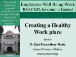 Creating a Healthy Work place