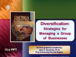 Diversification: Strategies for Managing a Group of Businesses