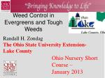 Weed Control in Evergreens and Tough Weeds