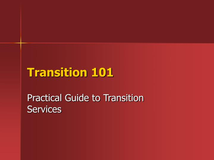 transition 101 n.