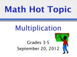 Math Hot Topic