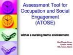 Assessment Tool for Occupation and Social Engagement (ATOSE)