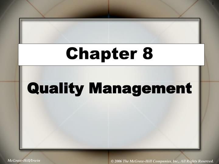 chapter 8 quality management n.