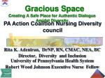 Gracious Space Creating A Safe Place for Authentic Dialogue Amidst Diversity