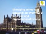 Managing schools in England: anoverview of teaching and organisational issues
