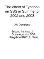 The effect of Typhoon on SSS in Summer of 2002 and 2003