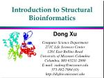 Introduction to Structural Bioinformatics