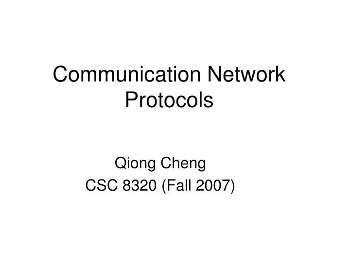communication network protocols n.