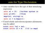 auto for Type Declaration