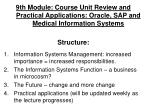 Information Systems Management: increased importance = increased responsibilities