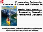 Presentation Package for Concepts of Fitness and Wellness 7e