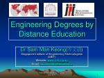 Engineering Degrees by Distance Education