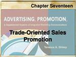 Trade-Oriented Sales Promotion