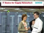 IT Basics for Supply Networks/3