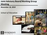 Joint Advisory Board/Working Group Meeting