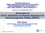 Overview of ITU-T Activities on Human Exposure to Electromagnetic Fields (EMFs)