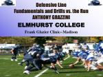 Defensive Line Fundamentals and Drills vs. the Run ANTHONY GRAZZINI