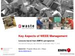 Key Aspects of WEEE Management