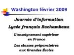 Washington février 2009